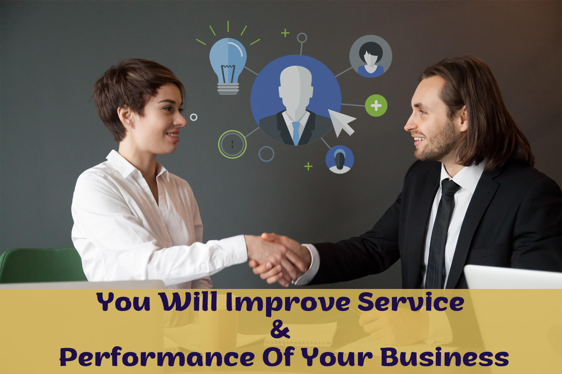 You can improve services and performance of your business by outsourcing