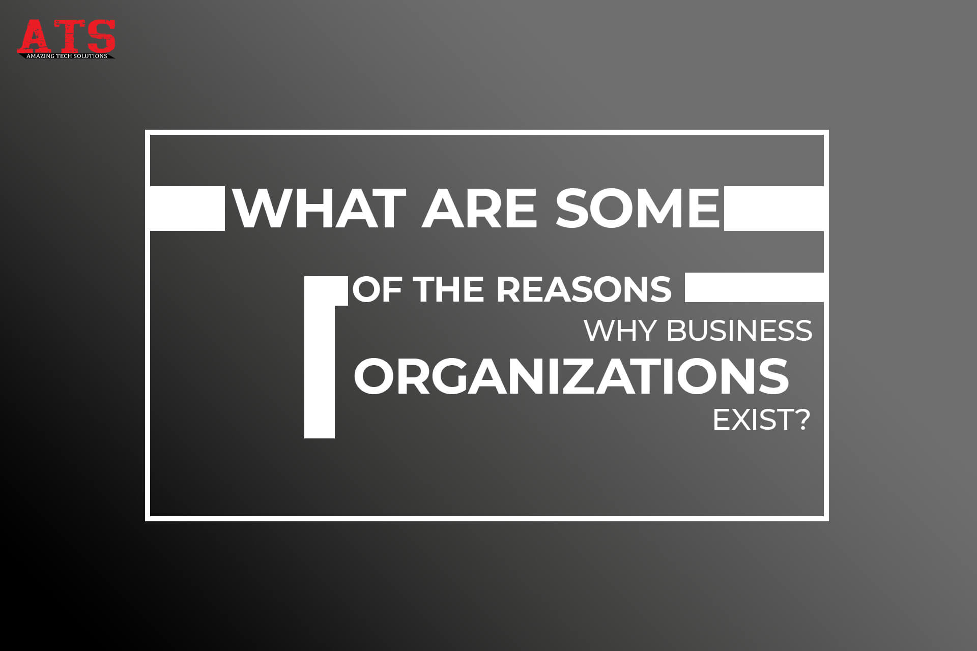 What Are Some Of The Reasons Why Business Organizations Exist?